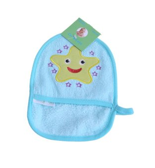 Harga Freeshop Washlap BathMittt Baby S165 Star - Biru