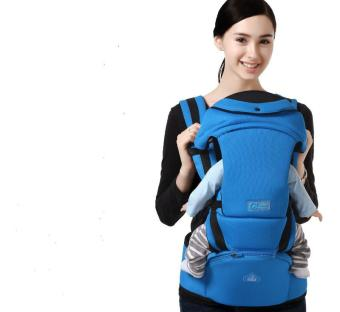 Harga 2-36 Months 30KG Breathable Multifunctional Ergonomic Baby Carrier Infant Comfortable Sling Backpack Hipseat Wrap Baby Kangaroo MY0053-Blue - intl