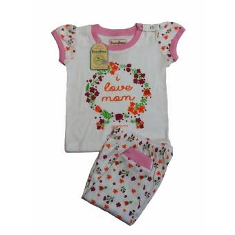 Harga Andri Collection - Baju Bayi Oganik Cotton I Love Mom Bersertifikasi SNI & GOTS - White