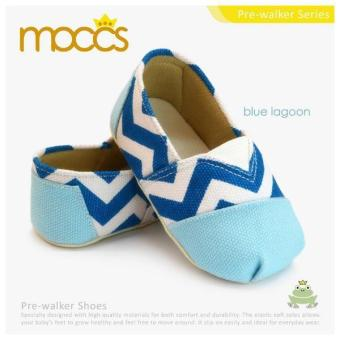 Harga Freddie The Frog Baby Shoes Blue Lagoon Moccs Blue - Size 5- Usia 9M-12M