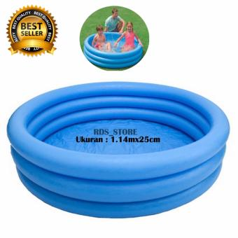 Intex Kolam Renang Anak Crystal Blue Pool 3 Ring For Baby [114cm x 25cm]