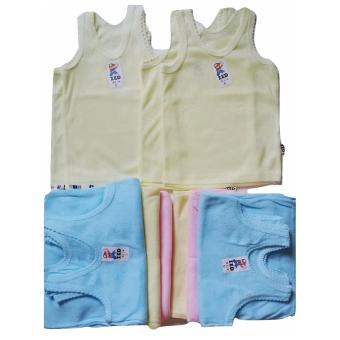 Jelova Angela Selusin 12 pcs Baju Kutung Baby Bayi 1,5 - 2,5 Years- Polos XL Mix colour