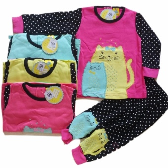 Jelova Angela Setelan Baju Baby Bayi LITTLE CATTY Cloud Bird PrintAsli 6-14 Months SNI STANDART - RANDOM
