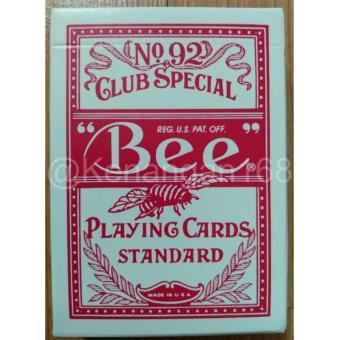 Kartu remi BEE Stinger No. 92 import USA warna Merah