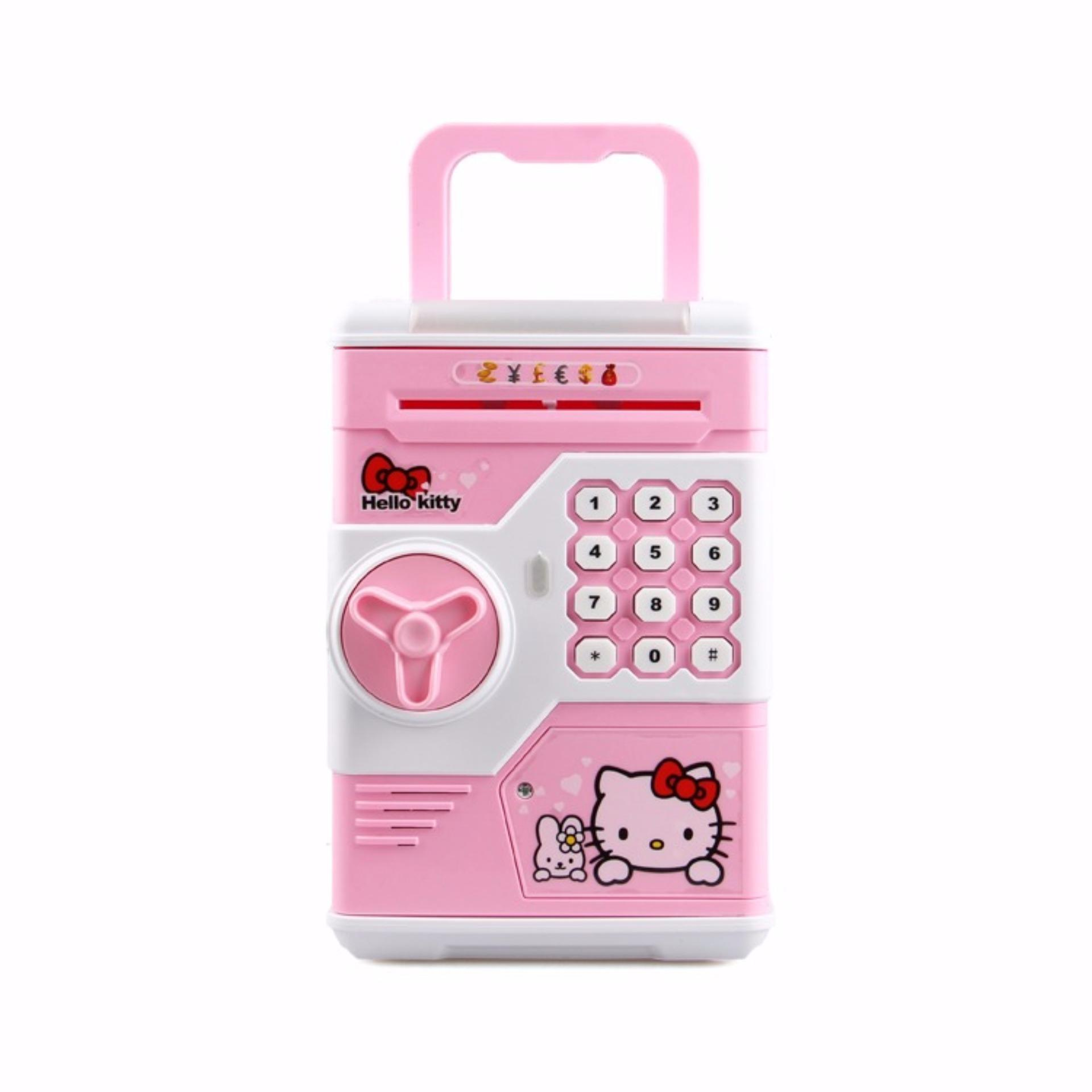 ... KAT Password Safe Electronic Locks Saving Box Piggy Bank - Character - Pink ...