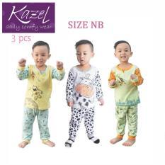 Kazel Piyama Boy Set - Baju Tidur Anak Setelan Isi 3 pcs ( NB )