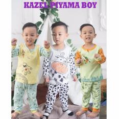 KAZEL PIYAMA BOY SETELAN OBLONG CELANA PANJANG 3IN1 - Size NB
