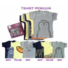 Kazel TShirt Penguin Edition / S (1-2yr) / Baju Bayi s.d Balita