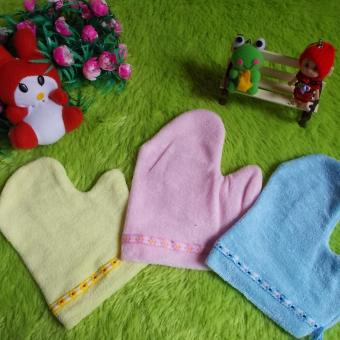 kembarshop - Set 3pcs Washlap Bayi Model Tangan