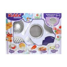 Kiddy 5 in 1 Multifunctional Food Maker Ungu / Peralatan Penghalus Makanan Bayi - Putih