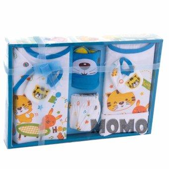 Kiddy Baby Gift Set Little Cat 11169 Biru - Set Pakaian Bayi Motif Kucing