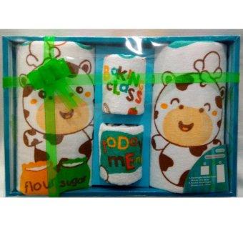 Kiddy Baby Gifts Set - 4pcs Handuk hijau