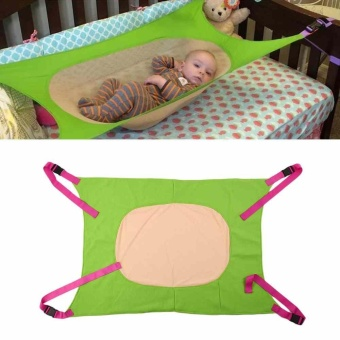 Kids Baby Healthy Crib Hammock Holder Elastic Organizer Storage Toy Tidy Room - intl