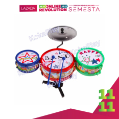 KokaPlay Drum Kit Set Band Music Mini Toy Mainan Edukasi Musikal Drum Set Anak