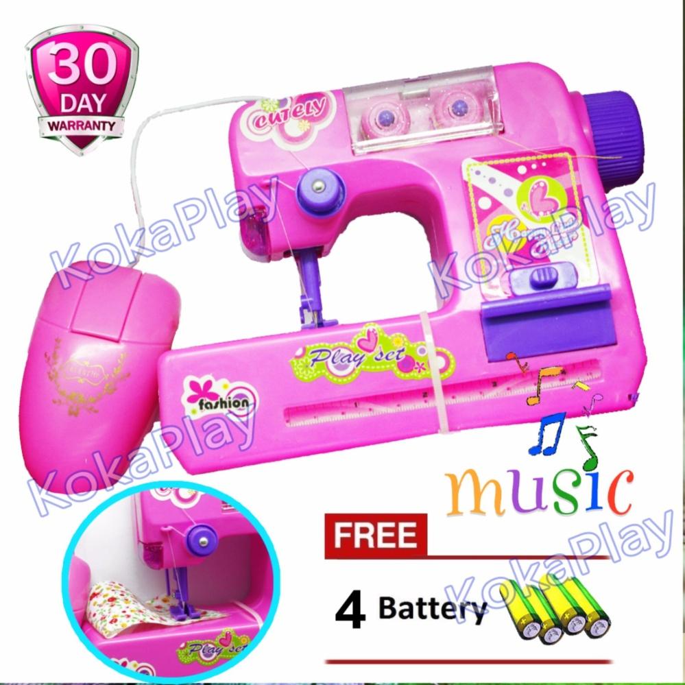 Shopping Comparison KokaPlay Friends Mini Sewing Machine Music Mainan Edukasi Mesin Jahit Menjahit Musik Piano Frozen