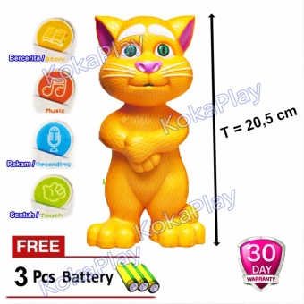 KokaPlay Intelligent Talking Tom Cat Mainan Edukasi Boneka Touch Sensor  Sentuh Kucing Talking . 9acbea561f