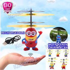 KokaPlay RC Radio Control Hand Sensor Infrared Mini Flyer Helicopter Cartoon Character Mainan RC Helikopter Mini Sensor Tangan