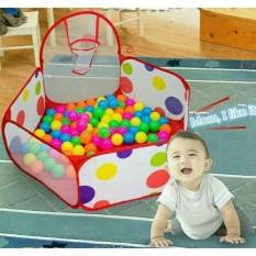Kolam mandi bola anak 1m/mainan anak tempat keranjang mandi bola+ring