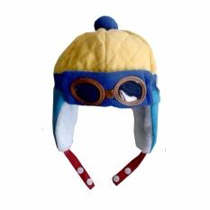 Topi Pilot Hat baby lucu balita anak blue biru keren unikIDR65000. Rp 68.000