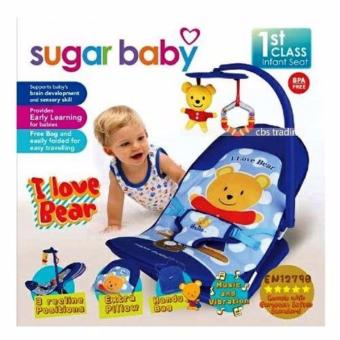 Kursi bayi /Bouncer Bayi Sugar Baby Infant Seat with Toy Bar - I Love Bear