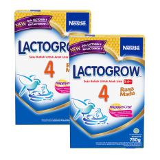 LACTOGROW 4 HappyNutri Rasa Madu Susu Pertumbuhan 3-5 Tahun Box 750g - Bundle Isi 2 Box