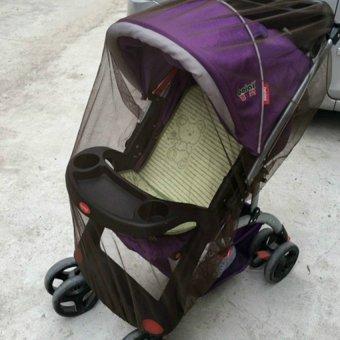 Lemon Stroller kereta dorong bayi kelambu aksesoris penutup kereta Curtaincarriage perawatan serangga (kopi)- International