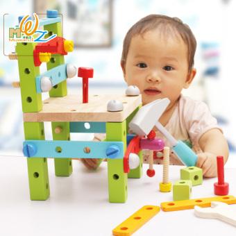 Luban Yi Chi alat kursi kursi di bawah usia setengah blok bangunan mainan