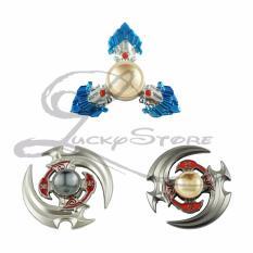 Lucky-Fidget Spinner Hand Spinner Senjata Anime Scythe Boomerang Diamond Sapphire Spiner Besi Hand Toys Focus Games / Mainan Bumerang Spiner Tangan Penghilang Kebiasan Buruk - Random - 1 Pcs