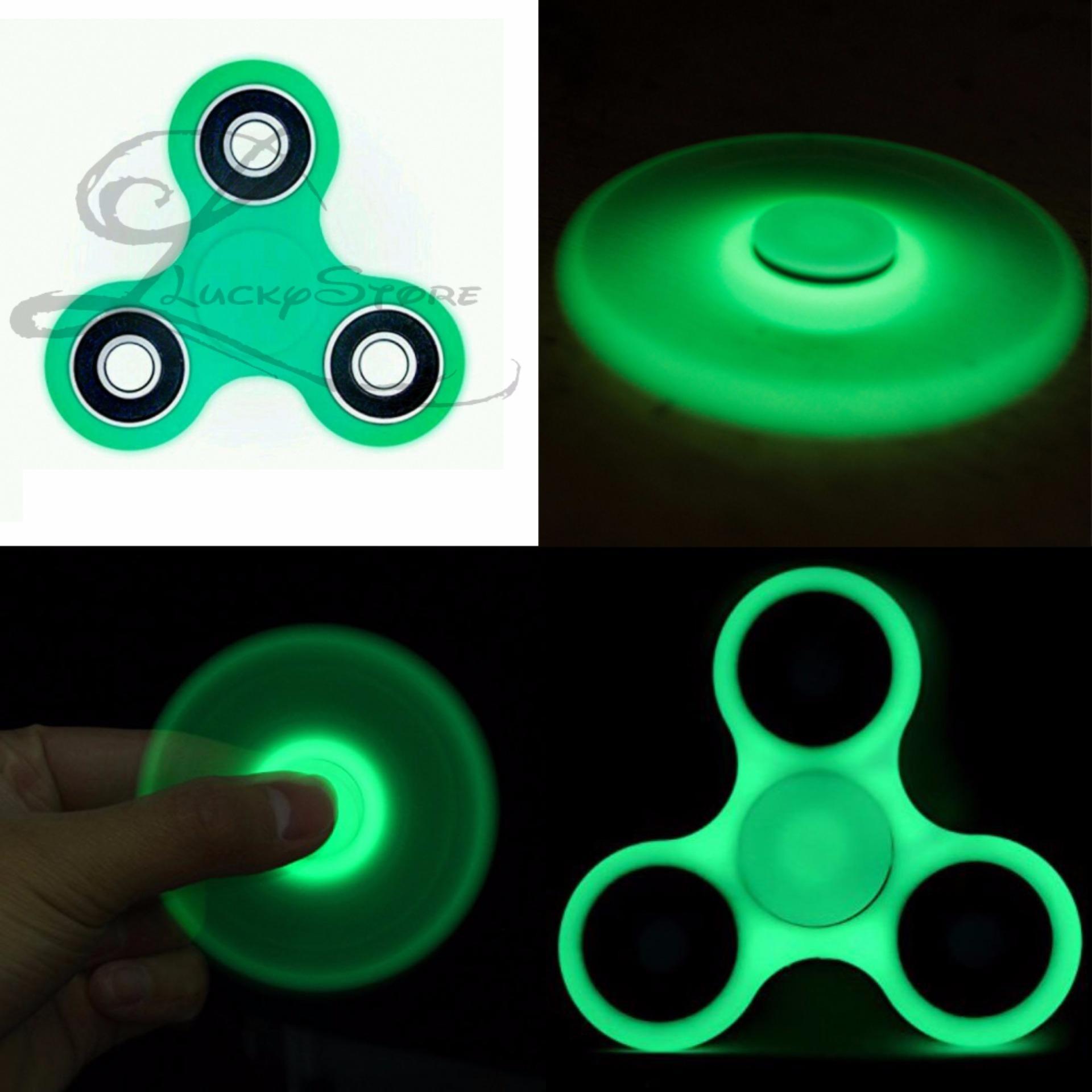 Lucky GLOW IN THE DARK Fidget Spinner Hand Spinner Hand Toys FocusGames / Mainan Spinner Tangan