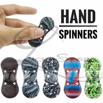 Lucky Hand Fidget Spinner Metalic Motif Spiner Besi Metallic Ceramic Hybrid Hand Toys Focus Games -