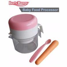 Lusty Bunny Baby Food Processor Pink - Alat Penghalus Makanan Bayi