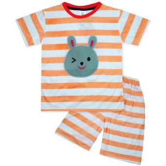 MacBear Kids Baju Anak Setelan Bunny Wink Stripes