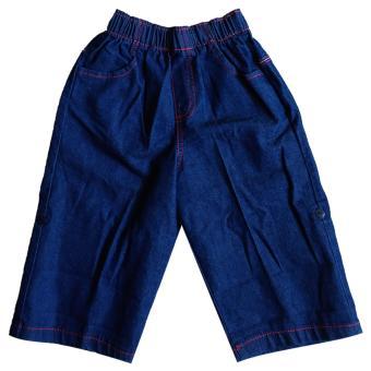 Macbear Celana Jeans Anak 2 in 1 Long Pants and Short Pants Blue Size 3