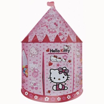 MAINAN ANAK TENDA KASTIL HELLO KITTY PINK