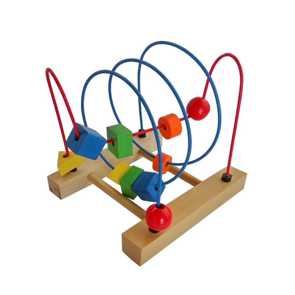 Cheap online Mainan Eduka Alur Kawat dan Manik Kayu 2 Baris