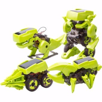 Jual Mainan Edukasi Robot Tenaga Surya 4 In 1 Transforming Solar Robot Science  Education Diy Toys Kids - Hijau Murah