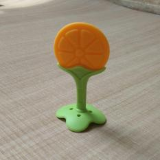 Mainan Gigitan Bayi Silicone Teether Orange Fruit