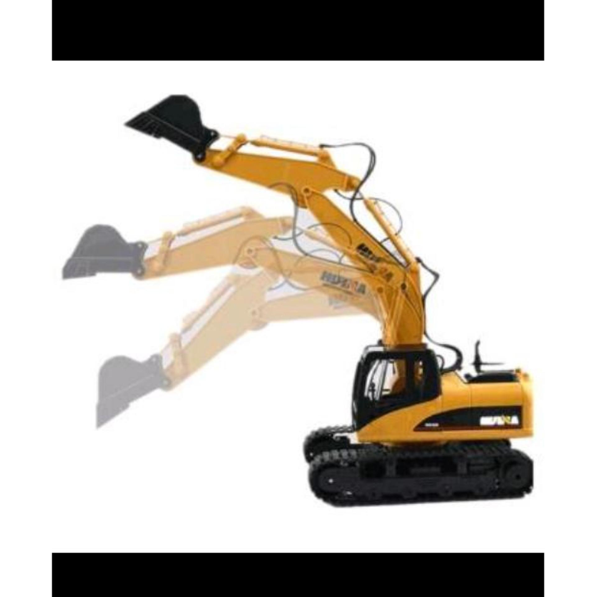 ... mainan remot control RC Excavator HuiNa Toys1550 15Channel 2 4Ghz 1 12