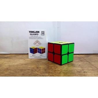 Mainan Rubik 2X2x2 Yong Jun Guanpo Basic Hitam Harga Murah