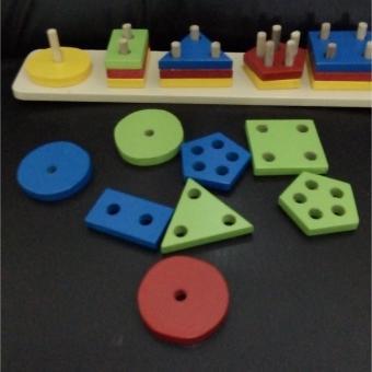 Mainanalfaqih - Mainan Edukasi- Menara Bentuk Geometri