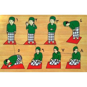 Malva Kayla Toys Puzzle Kayu Belajar Shalat