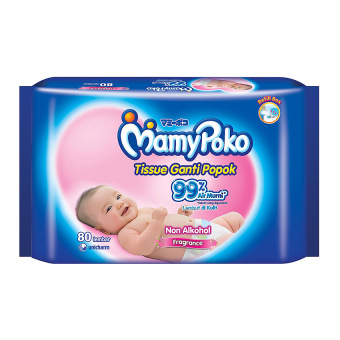Mamypoko Baby Wipes Non Alcohol - Perfumed - 80 Lembar