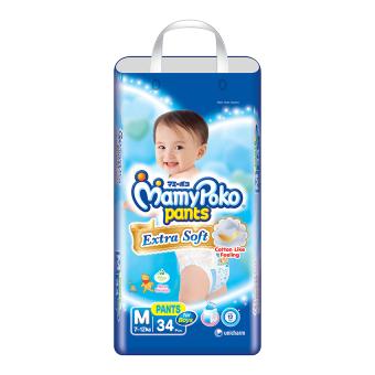 MamyPoko Popok Pants Extra Soft M34 Boys