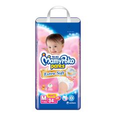 MamyPoko Popok Pants Extra Soft M34 Girls