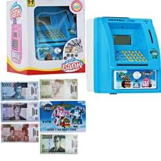 Mao Celengan ATM Robocar Heli + Uang Mainan