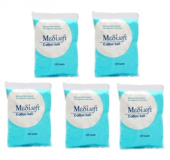 Medisoft Cotton Ball / Kapas Bola - 5packs