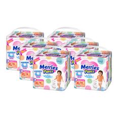 Merries Popok Pants Premium - XL 19 Carton pack - isi 6