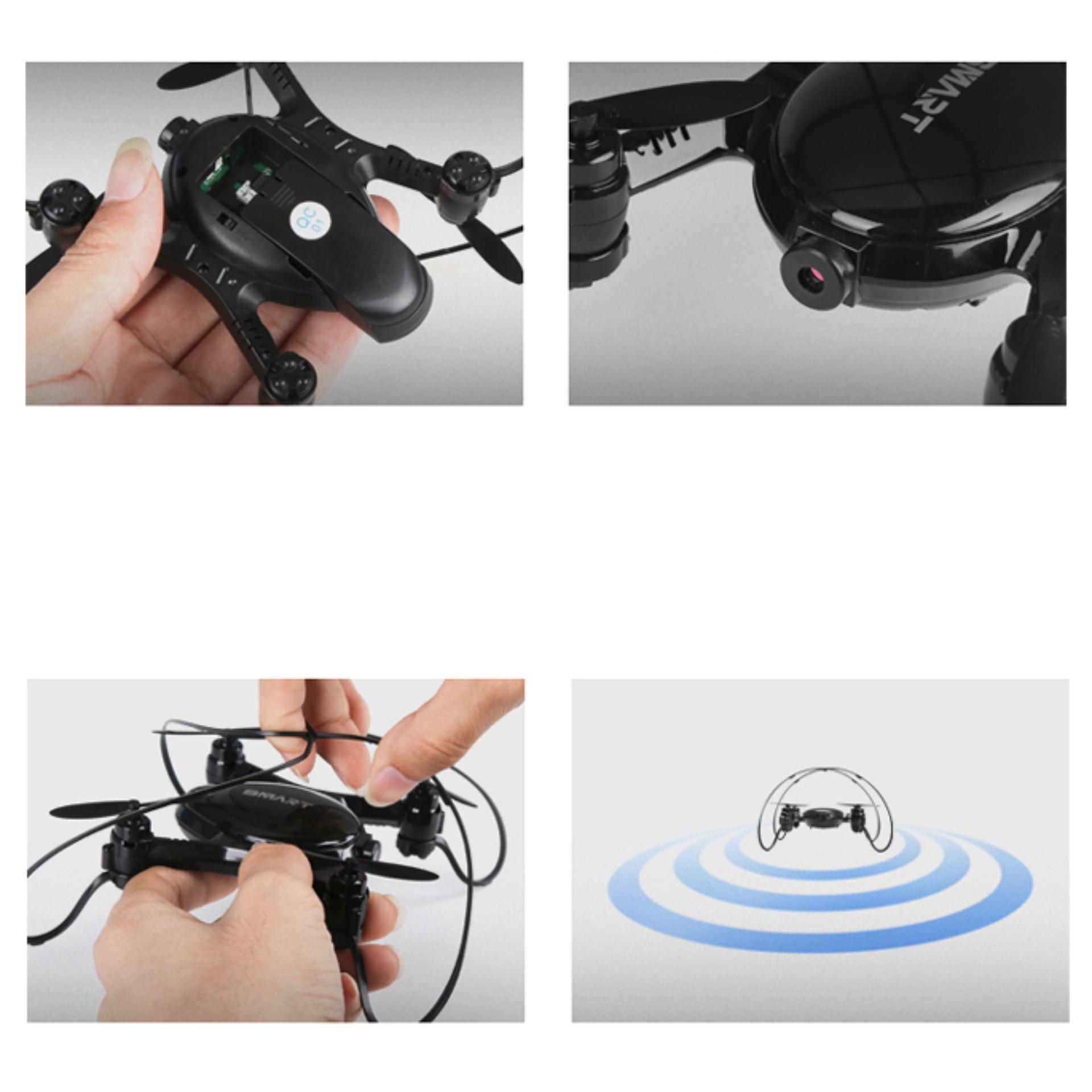 Jjrc H36 Mini Drone Quadcopter 6 Axis 24g 4ch Untuk Rc Mikro Micro Pemula 2 Mode Kecepatan Nihui Nh010 Gyro Pesaing Furibee Eachine E010 E012 Wifi With 03mp Camera Fy603 Putih