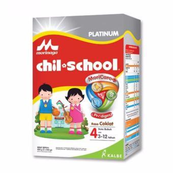 Morinaga Chil School Moricare Platinum Tahap 4 Coklat Box -(2x400gr) ...