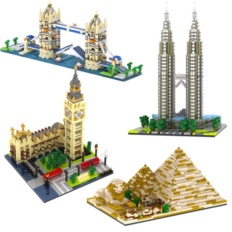 Nanoblock blok bangunan miniatur